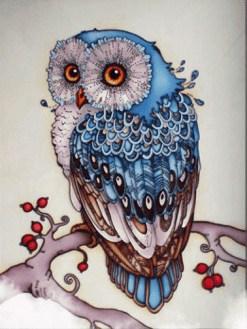 Blauwe Uil - Full diamond painting
