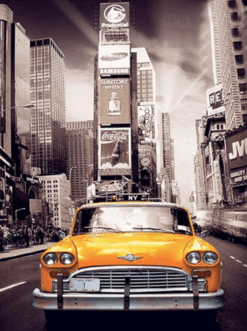 Diamond Painting - Taxi in New York - FULL - 25x30cm - Volledig