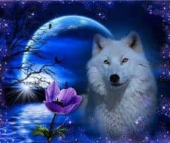 Witte wolf maan