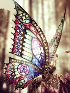 Prachtige vlinder in de zon - Veel verschillende kleuren - 30x25 cm - SEOS Shop