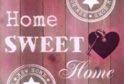 Diamond Painting Home Sweet Home (Roze) - 30x20cm - Volledig - SEOS Shop ®