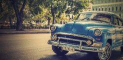Diamond Painting - Auto in Cuba - 60x30 cm - Volledige bedekking - FULL - SEOS Shop ®