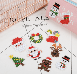 Diamond Painting Kerst Stickers - 10 stickers - SEOS Shop ®