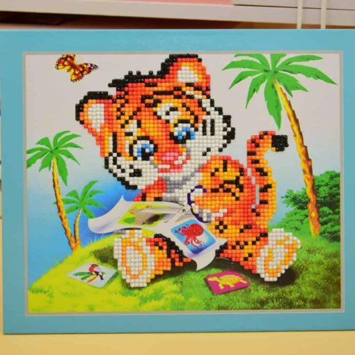 Diamond Painting Pakket voor kinderen - Tijgertje - 21x25 cm - SEOS Shop ®