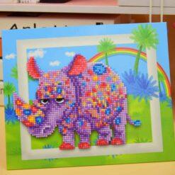 Diamond Painting Pakket voor kinderen - Neushoorn - 21x25 cm - SEOS Shop ®