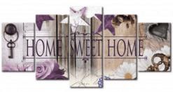 Diamond Painting Pakket Home Sweet Home (Natural Look) - 5 Luik - Volledig - Full - SEOS Shop ®