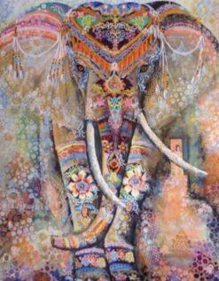 Diamond Painting kleurrijke olifant