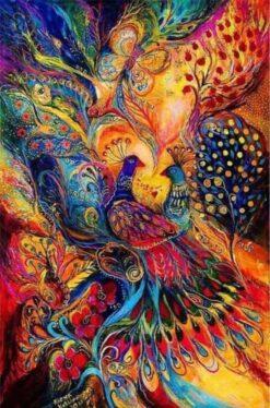 kleurrije pauw