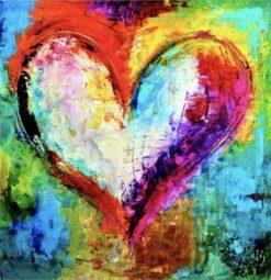 Kleurrijk hart
