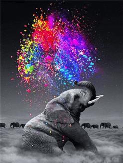 Colorful Elephant diamond painting