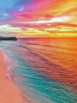 Gekleurd strand