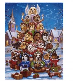 Kerstboom met honden