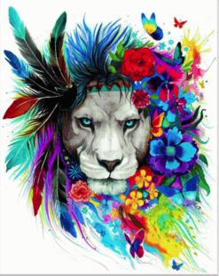Leeuw met veren