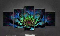 Gekleurde bloem 5 luik