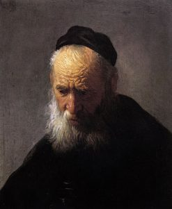 Head of an Old Man in a Cap, by Rembrandt