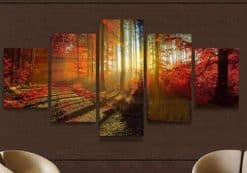 Herfst zonnestralen 5 luik