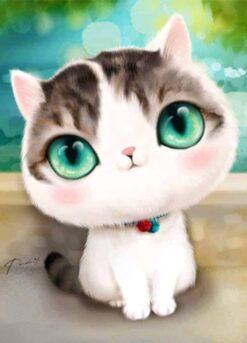 Kitten met grote ogen