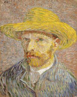 Portret Vincent van Gogh met Strohoed
