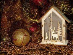 Gouden kerstbal