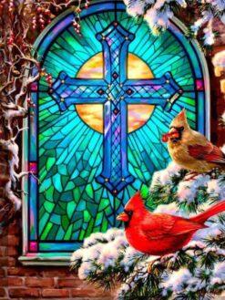 Kerst glas in lood