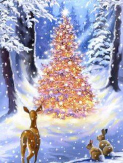 Kerstboom met lichtjes