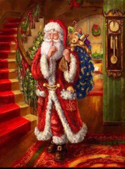 Kerstman met zak