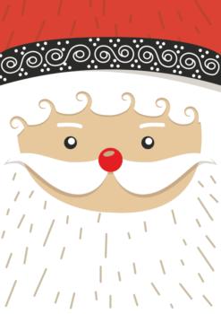 kerstman tekening