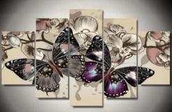 Diamond painting 5 luik vlinders