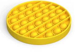 Siliconen Pop it fidget - Geel cirkel