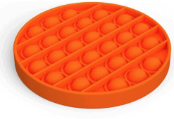 Siliconen Pop it fidget - Oranje /Rood cirkel