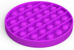 Siliconen Pop it fidget - Paars cirkel