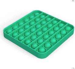 Siliconen Pop it fidget - Groen Vierkant