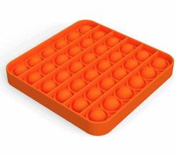 Siliconen Pop it fidget - Oranje Vierkant